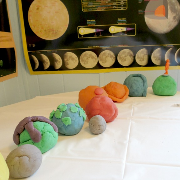 Play Dough to extend learning about space