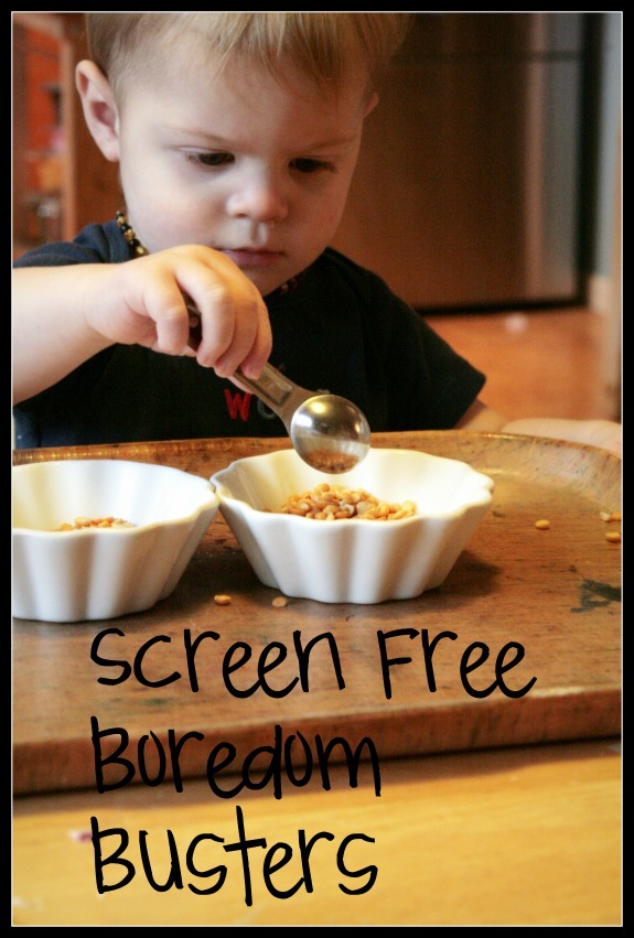 Screen Free Boredom Busters